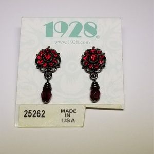 1928 Brand Ruby Dangle Earrings #53